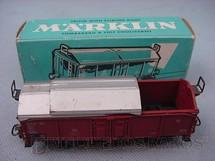 1. Brinquedos antigos - Marklin - Vagão Furgão com teto deslisante Linha DB Década de 1960