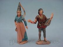 1. Brinquedos antigos - Marx - Princesa Medieval e Trovador com Alaúde