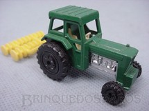 1. Brinquedos antigos - Matchbox - Inbrima - Ford Tractor and Harrow Superfast verde Brazilian Matchbox Inbrima 1970