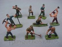 1. Brinquedos antigos - Sem identificação - Figuras de trabalhadores para trem elétrico Década de 1950 preço por unidade