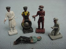 1. Brinquedos antigos - Estrela - Conjunto de cinco Frentistas de Posto de Gasolina. Década de 1950