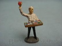 1. Brinquedos antigos - Elastolin - Figura de Vendedor ambulante de Estação Ferroviária Década de 1930