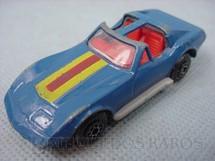 1. Brinquedos antigos - Matchbox - Inbrima - Chevrolet Corvette T Roof Superfast azul Brazilian Matchbox Inbrima 1970
