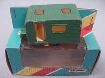 1. Brinquedos antigos - Matchbox - Inbrima - Trailer Caravan Superfast verde Brazilian Matchbox Inbrima 1970