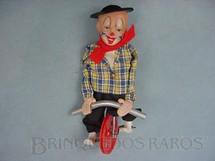 1. Brinquedos antigos - Sem identificação - Palhaço Equilibrista com cabeça de Composition Década de 1950