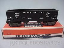 1. Brinquedos antigos - Lionel - Vagão 6456 Hopper Car preto 1954