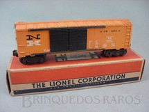 1. Brinquedos antigos - Lionel - Vagão 6468-25 Box Automobile Car New Haven Ano 1956 a 1958