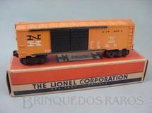 1. Brinquedos antigos - Lionel - Vagão 6468-25 Box Automobile Car New Haven Ano 1956 a 1958