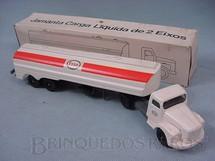 1. Brinquedos antigos - Juê - Cavalo Mecânico Scania Vabis L111 com carreta Esso