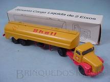 1. Brinquedos antigos - Juê - Cavalo Mecânico Scania Vabis L111 com carreta Shell