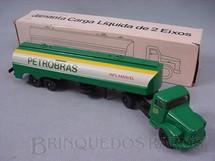 1. Brinquedos antigos - Juê - Cavalo Mecânico Scania Vabis L111 com carreta Petrobras