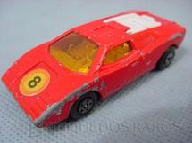 1. Brinquedos antigos - Matchbox - Inbrima - Lamborghini Countach Superfast vermelha numero 8 Brazilian Matchbox Inbrima 1970