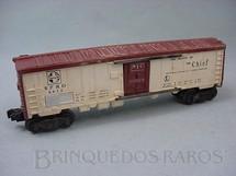 1. Brinquedos antigos - Lionel - Vagão 6672 Santa Fé Refrigerator Car Ano 1954