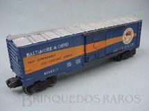 1. Brinquedos antigos - Lionel - Vagão 6464400 Box Baltimore and Ohio Ano 1956