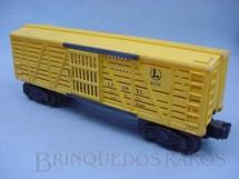 1. Brinquedos antigos - Lionel - Vagão 6656 Lionel Lines yellow Ano 1950 a 1953