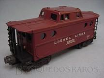 1. Brinquedos antigos - Lionel - Vagão 64273 Caboose Ano 1955 a 1960
