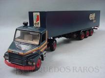 1. Brinquedos antigos - Arpra - Cavalo Mecânico Scania Vabis 112H com Carreta Baú Elf Tyrrell