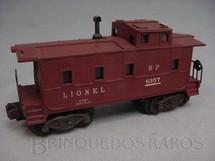 1. Brinquedos antigos - Lionel - Vagão 6357 Lighted Caboose tuscan red Ano 1948 a 1957