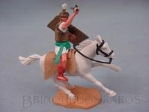 1. Brinquedos antigos - Timpo Toys - Soldado Romano a cavalo com espada e escudo