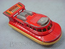 1. Brinquedos antigos - Matchbox - Inbrima - Rescue Hovercraft Superfast vermelho Brazilian Matchbox Inbrima 1970