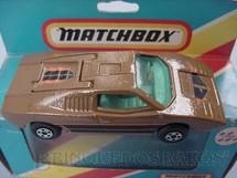 1. Brinquedos antigos - Matchbox - Trol - Lamborghini Countach Superfast marrom Brazilian Matchbox Trol 1970