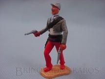 1. Brinquedos antigos - Timpo Toys - Soldado Confederado a pé com dois revolveres