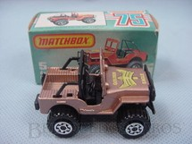 1. Brinquedos antigos - Matchbox - Jeep Of Road 4X4 Golden Eagle Superfast