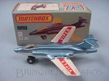 1. Brinquedos antigos - Matchbox - S-2 Jet Superfast azul metálico