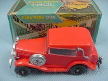 1. Brinquedos antigos - Trol - Carro avulso para Pega Pega Trol vermelho