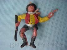 1. Brinquedos antigos - Casablanca e Gulliver - Cowboy sentado com rifle e revolver para carroça Gulliver Década de 1970