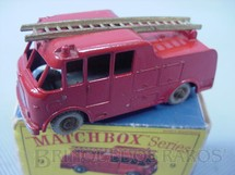 1. Brinquedos antigos - Matchbox - Merryweather Marquis Fire Engine Gray Plastic Regular Wheels Ano 1959