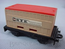 1. Brinquedos antigos - Matchbox - Flat Car whit N.Y.K. Container Superfast