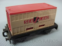 1. Brinquedos antigos - Matchbox - Flat Car whit Sea Land Container Superfast