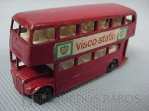 1. Brinquedos antigos - Matchbox - Routermaster London Bus black plastic Regular Wheels Visco Static label