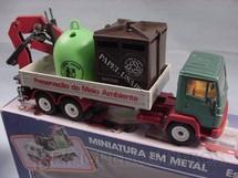1. Brinquedos antigos - Siku-Rei - Caminhão Mercedes Benz Preservação do Meio Ambiente Brasilianische Siku Rei