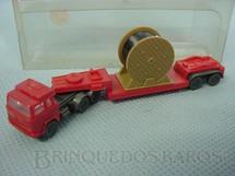 1. Brinquedos antigos - Wiking - Cavalo Mecânico Magiruz Deutz e carreta com carretel