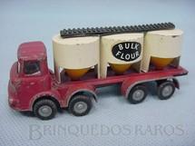 1. Brinquedos antigos - Budgie Toys - Caminhão Graneleiro Bulk Flour Década de 1950