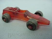 1. Brinquedos antigos - Sem identificação - Formula 1 vermelho transparente Década de 1970