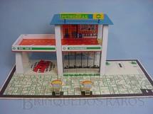 1. Brinquedos antigos - Estrela - Posto de gasolina com dois andares Bandeira Petrobras Década de 1970