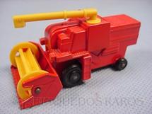 1. Brinquedos antigos - Matchbox - Colheitadeira Combine Harvester black plastic Regular Wheels vermelho