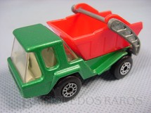 1. Brinquedos antigos - Matchbox - Inbrima - Skip Truck Superfast verde Brazilian Matchbox Inbrima 1970