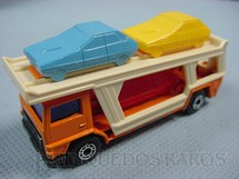 1. Brinquedos antigos - Matchbox - Inbrima - Caminhão Cegonha Bedford Car Transporter Superfast laranja Brazilian Matchbox Inbrima 1970