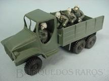 1. Brinquedos antigos - Sem identificação - Caminhão Dodge 6 x 6 com 4 soldados Década de 1970