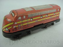 1. Brinquedos antigos - Estrela - Locomotiva diesel Ferrorama vermelha Década de 1960
