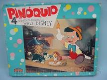 1. Brinquedos antigos - Coluna - Quebra Cabeça Pinóquio com 4 desenhos de Walt Disney Década de 1960