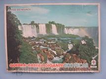 1. Brinquedos antigos - Estrela - Quebra Cabeça A Foz do Iguaçú completo Datado Dez 1970