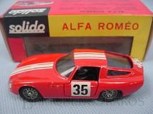 1. Brinquedos antigos - Solido-Brosol - Alfa Romeo Giulia TZ Rally vermelha Fabricada pela Brosol Solido brésilienne Datada 6-1966