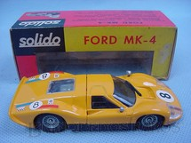 1. Brinquedos antigos - Solido-Brosol - Ford Mark IV Le Mans amarelo Fabricado pela Brosol Solido brésilienne Datado 2-1969