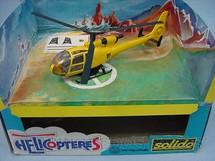 1. Brinquedos antigos - Solido - Helicóptero Gazelle Civile com 17,00 cm de comprimento Década de 1990