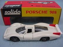 1. Brinquedos antigos - Solido - Porsche 908 branco Datado 11-1969